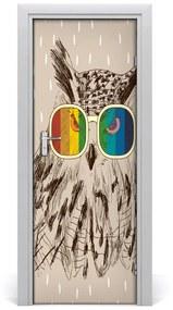 Autocolante pentru usi Owls ochelari