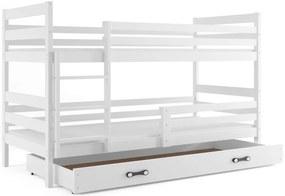 Expedo Pat supraetajat RAFAL 2 + SD + saltea + somieră GRATIS, 90x200 cm, alb, alb