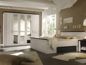 Set mobila dormitor LUCA 160, PAL cu MDF benzi si finisaj folie
