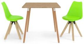 3057141 vidaXL Set mobilier de bucătărie, 3 piese, verde
