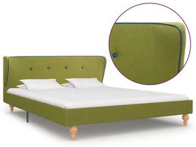280584 vidaXL Cadru de pat, verde, 140 x 200 cm, material textil