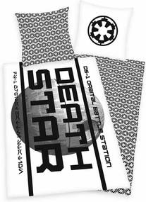 Lenjerie bumbac Star Wars Death Star, 140 x 200 cm, 70 x 90 cm