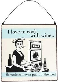 Semn metalic Rex London Cook With Wine