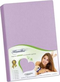 Cearşaf Jersey Kamilka, violet, 200 x 220 cm, 200 x 220 cm