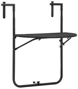 47895 vidaXL Masă balcon suspendată maro 60x64x83,5 cm plastic aspect ratan