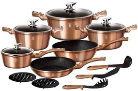 Set oale marmorate Rose Gold Metalic Line 15 piese Berlinger Haus BH 1224N