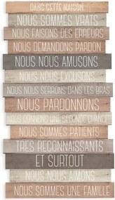 Decorațiune din lemn pentru perete Really Nice Things Frances, 30 x 50 cm