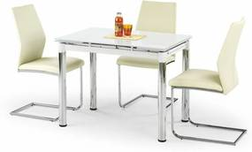 LOGAN 2 masă extensibilă albă