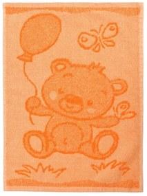 Prosop copii Bear orange, 30 x 50 cm