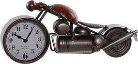 Ceas Motorcycle din metal maro cu rosu 39x12x16.5 cm