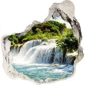 Fototapet un zid spart cu priveliște Cascada Krka