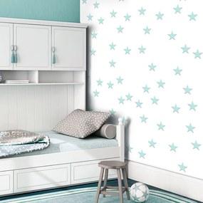 Tapet Bimago - Stars - Aquamarine + Adeziv gratuit rulou 50x1000 cm