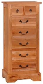 288864 vidaXL Comodă cu sertare, lemn masiv de mahon