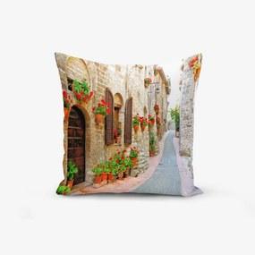 Față de pernă din amestec de bumbac Minimalist Cushion Covers Colorful Street, 45 x 45 cm