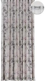 Draperie cu inele Samba imprimeu floral 300x245 cm