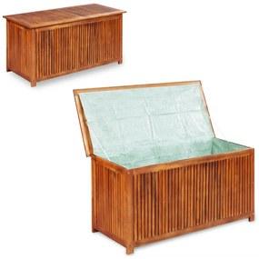 44127 vidaXL Ladă de depozitare grădină, 117x50x58 cm, lemn masiv de acacia