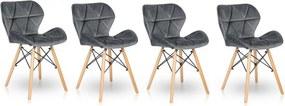 Set de scaune din catifea STONE 3 + 1 GRATIS!