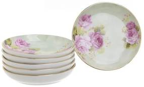 Set 6 farfurioare dulceata Pink Roses 10 cm
