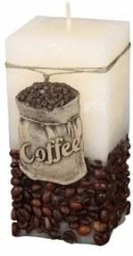 Lumânare decorativă Coffee Bag bej, 14 cm