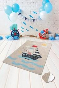 Covor pentru copii Sailor Gri - 140 x 190 cm