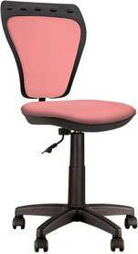 Scaun de birou pentru copii Ministyle, fara brate, roz somon, textil