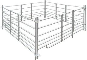 Țarc de oi cu 4 panouri din oțel galvanizat 183 x 183 x 92 cm