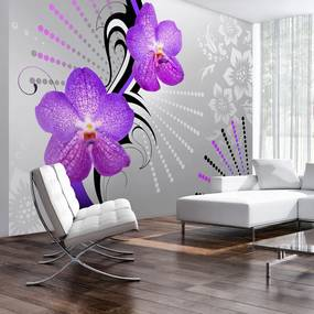 Fototapet Bimago - Purple vibrations + Adeziv gratuit 250x175 cm