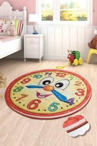 Covor pentru copii Watch Rosu - 140 x 140 cm