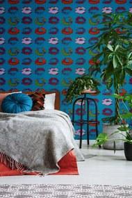 MINDTHEGAP Tapet - Neon Kiss Blue