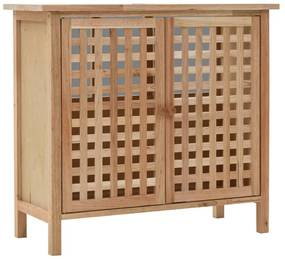 247097 vidaXL Dulap de chiuvetă, lemn masiv de nuc, 66 x 29 x 61 cm