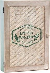 Suport chei Little Garden din lemn natur si verde 20x30 cm