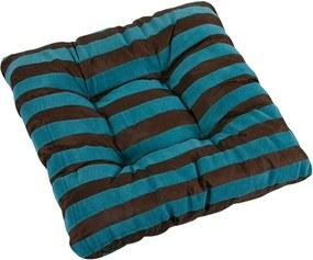 Pernă de scaun Leona dungi albastre, 40 x 40 cm