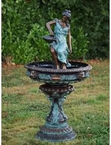 Fantana de bronz Lady with jar