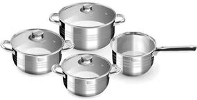 Set oale cu capac, inox, 7 piese, Perfect Home Diamond