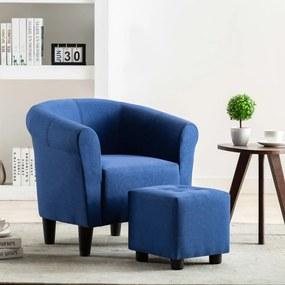 248029 vidaXL Fotoliu, albastru, material textil