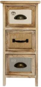 Comoda cu 3 sertare Schubl, Lemn, 58x25x25 cm