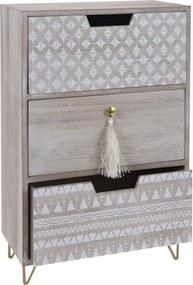 Dulăpior decorativ Nordic, 3 sertare,25 x 14 x 39 cm