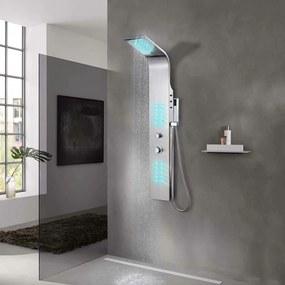 Sistem panel de duș curbat, oțel inoxidabil