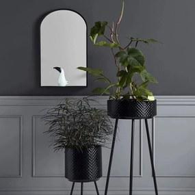 Oglinda Neagra din Metal cu Raft - Metal Negru Inaltime(77 cm) x Latime(46 cm)