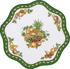 Față de masă verde cu fructe, 35 cm, 35 cm