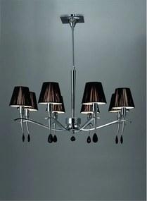 Mantra VIENA 0341 Lustre, candelabre negre crom 8xE14 max. 40 W Ø75x60-78 cm