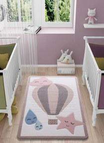 Covor pentru copii Cloudy Roz 133 x 190 cm
