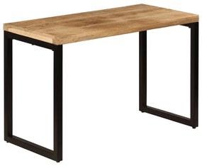 247331 vidaXL Masă de bucătărie, 115x55x76 cm, lemn masiv de mango și oțel