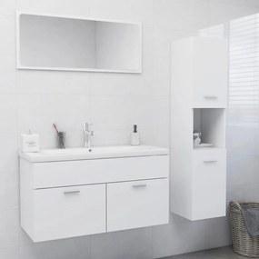 3071423 vidaXL Set mobilier de baie, alb, PAL