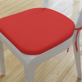 Goldea pernă pentru scaun rotundă decorativă 39x37cm - loneta - roșu 39 x 37 cm