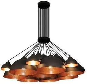 Lustra design industrial HL-3591-XXL CONALL negru/ cupru antic
