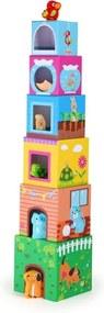 Joc cuburi cu animale din lemn Legler Figures