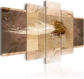 Tablou Bimago - Beige Texture 100x50 cm