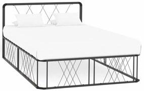 284596 vidaXL Cadru de pat, gri, 120 x 200 cm, metal