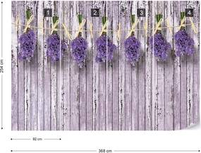 Fototapet GLIX - Lavender Bunches Purple + adeziv GRATUIT Papírová tapeta  - 254x184 cm